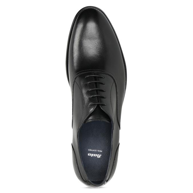 Czarne skórzane półbuty męskie typu oksfordy bata, czarny, 824-6615 - 17