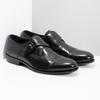 Czarne skórzane półbuty męskie zklamrami bata, czarny, 824-6610 - 26