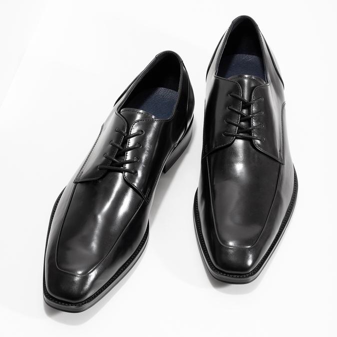 Czarne skórzane półbuty typu angielki bata, czarny, 824-6784 - 16