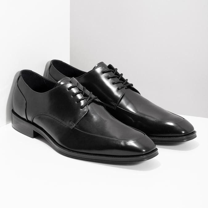 Czarne skórzane półbuty typu angielki bata, czarny, 824-6784 - 26