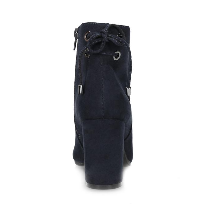 Granatowe botki damskie insolia, niebieski, 799-9635 - 15