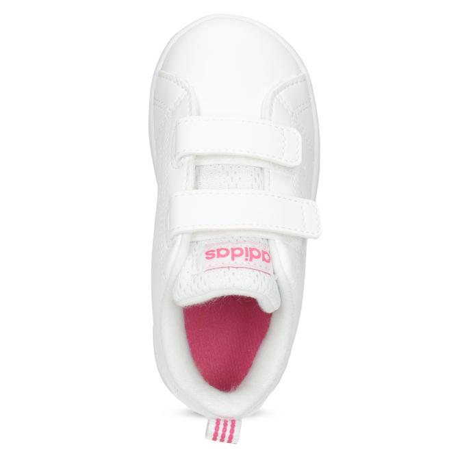 Białe trampki dziecięce zperforacją I zapięciami na rzepy adidas, biały, 101-5133 - 17