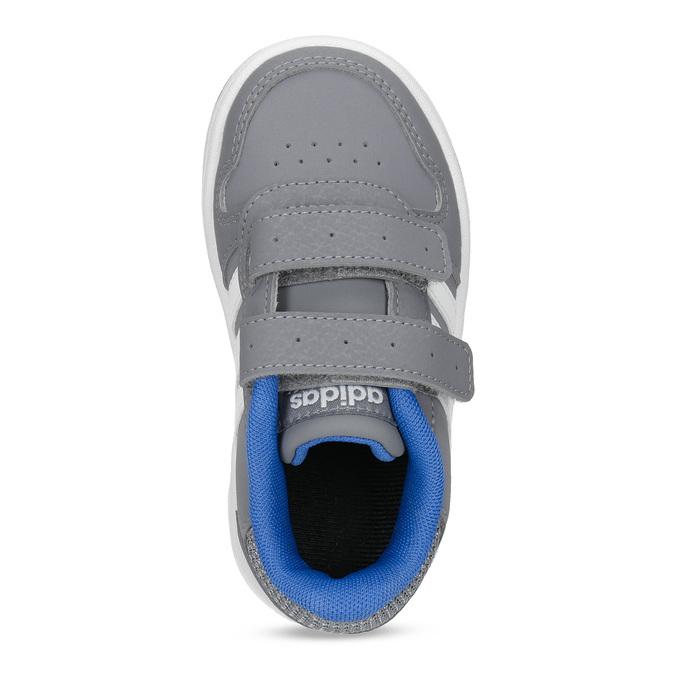 Szare trampki dziecięce zniebieskimi elementami adidas, szary, 101-2194 - 17