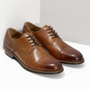 Brązowe skórzane półbuty typu angielki bata, brązowy, 826-3786 - 26
