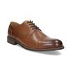 Brązowe skórzane półbuty typu angielki bata, brązowy, 826-3786 - 13