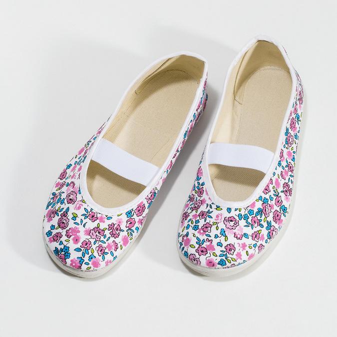 Domowe balerinki dziecięce wdeseń bata, biały, 379-5001 - 16