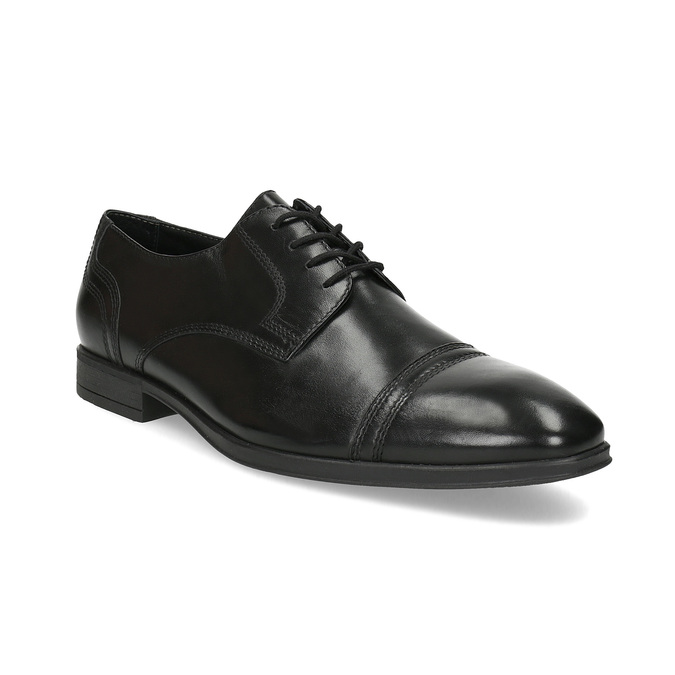 Czarne skórzane półbuty męskie typu angielki bata, czarny, 824-6891 - 13