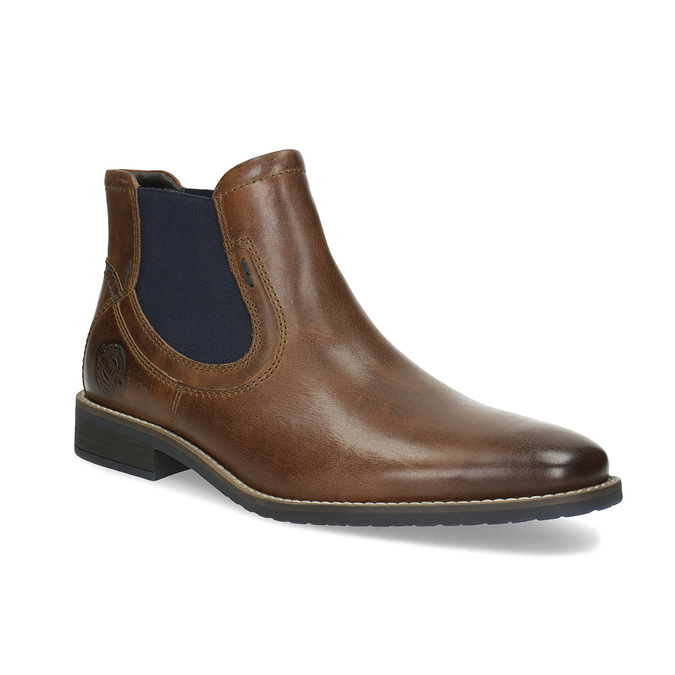 Skórzane obuwie męskie typu chelsea bata, brązowy, 826-3865 - 13