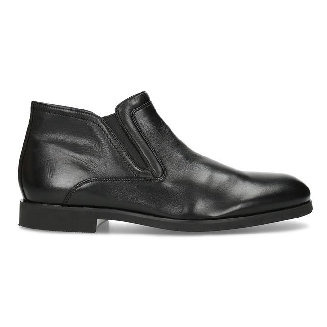 Skórzane obuwie męskie za kostkę, zprzeszyciami bata, czarny, 824-6621 - 19