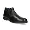 Skórzane obuwie męskie za kostkę, zprzeszyciami bata, czarny, 824-6621 - 13
