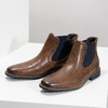 Skórzane obuwie męskie typu chelsea bata, brązowy, 826-3865 - 16