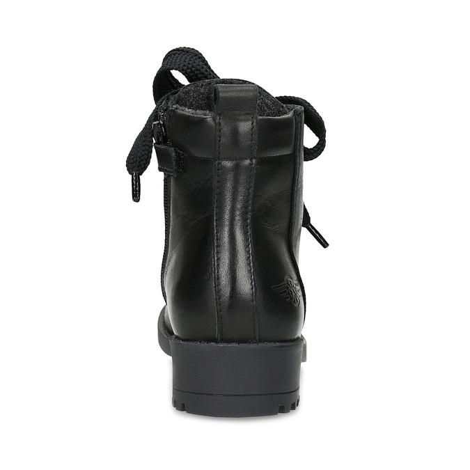 Skórzane botki dziecięce mini-b, czarny, 424-6600 - 15