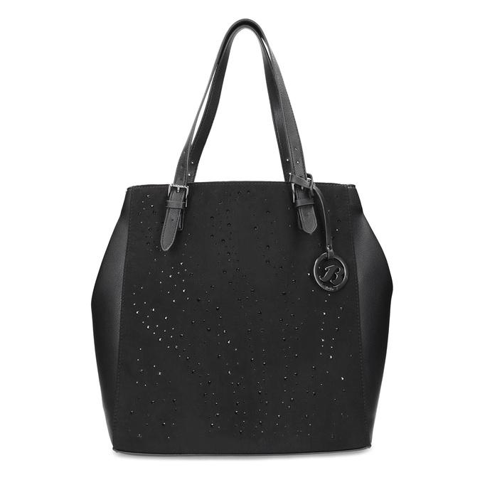 Czarna torebka zkryształkami, wstylu tote bag bata, czarny, 969-6875 - 26