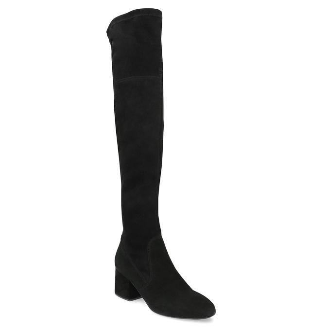 Czarne kozaki na stabilnych obcasach bata, czarny, 793-6614 - 13