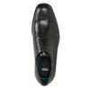 Skórzane półbuty męskie ze ściętymi noskami climatec, czarny, 824-6660 - 17