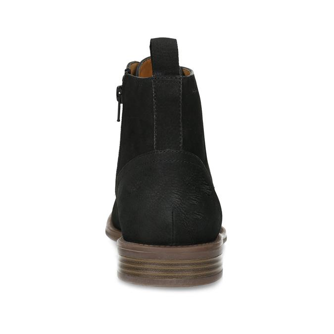 Czarno-brązowe skórzane obuwie męskie za kostkę vagabond, czarny, 826-6153 - 15