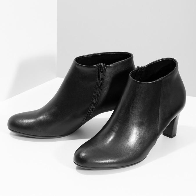 Czarne botki damskie na obcasach gabor, czarny, 714-6013 - 16