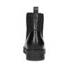 Skórzane damskie sztyblety czarne flexible, czarny, 594-6667 - 15