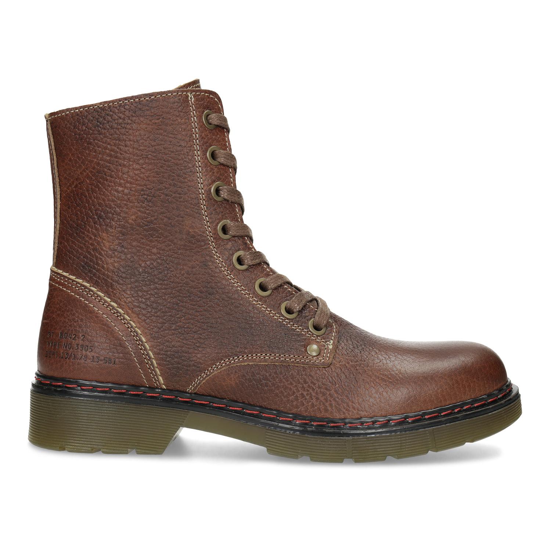 66d25081130b1 ... Brązowe skórzane botki damskie bata, brązowy, 596-4732 - 19 ...