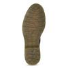 Brązowe skórzane botki damskie bata, brązowy, 596-4732 - 18