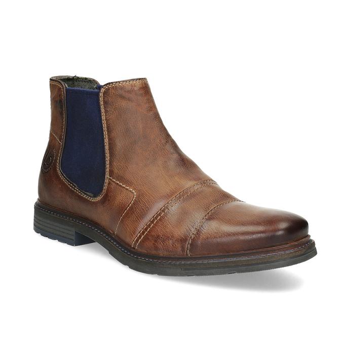 Brązowe skórzane obuwie za kostkę bugatti, brązowy, 816-4065 - 13