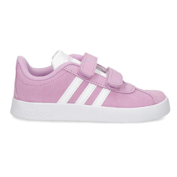 Różowe skórzane trampki dziecięce adidas, różowy, 103-5203 - 19