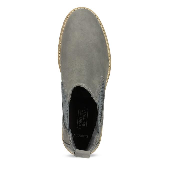 Szare skórzane obuwie damskie typu chelsea camel-active, szary, 616-2064 - 17