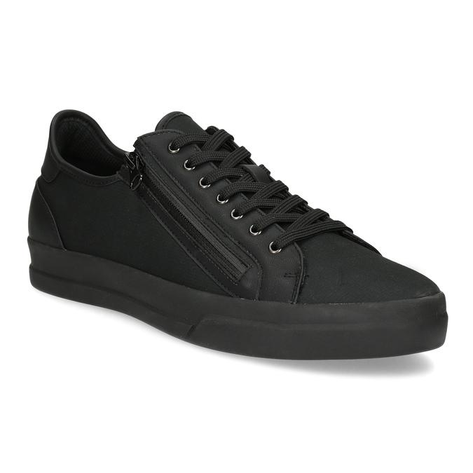 Męskie tenisówki czarne na suwak bata-red-label, czarny, 841-6622 - 13