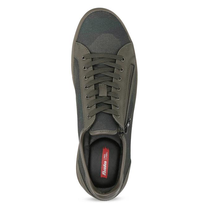 Męskie tenisówki khaki na suwak bata-red-label, brązowy, 841-3622 - 17