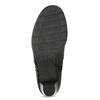Skórzane botki zklamrami, czarny, 696-6656 - 18