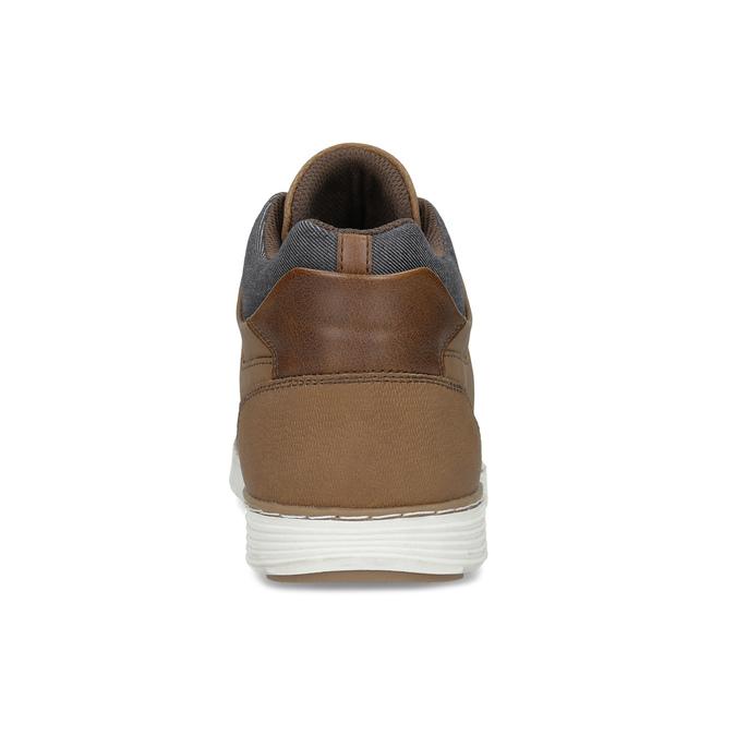 Męskie tenisówki do kostek brązowe bata-red-label, brązowy, 841-3626 - 15