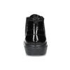 Skórzane botki damskie ze zdobieniami brogue geox, czarny, 526-6074 - 15