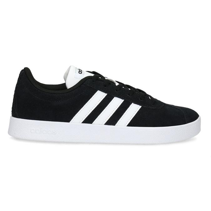 Czarne skórzane trampki dziecięce adidas, czarny, 403-6361 - 19