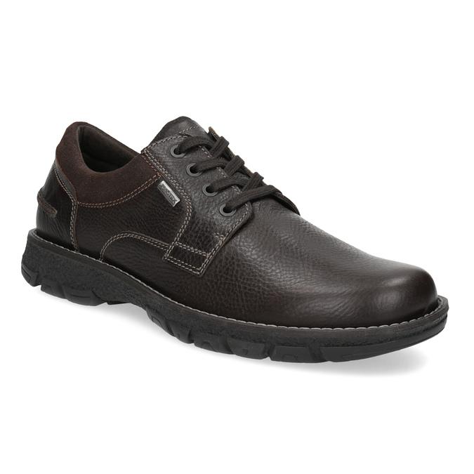 Skórzane półbuty męskie na grubej podeszwie bata, brązowy, 826-4973 - 13
