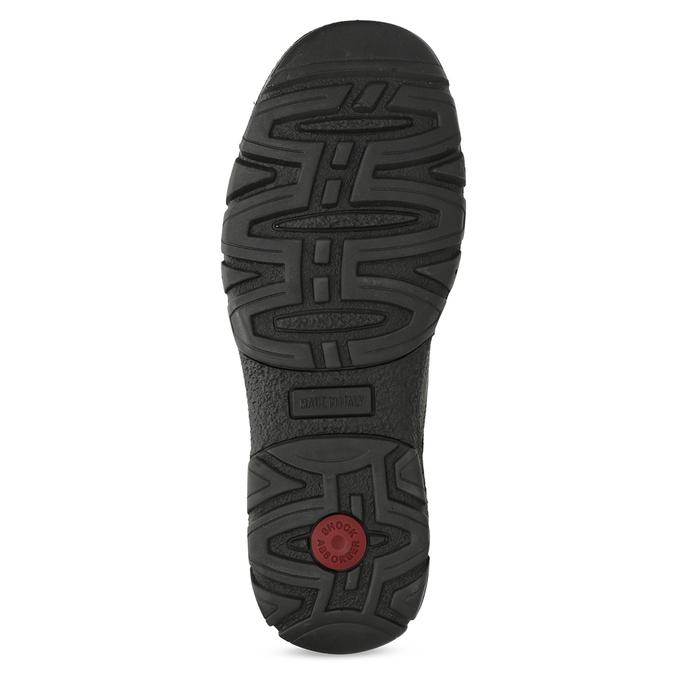 Skórzane półbuty męskie na grubej podeszwie bata, brązowy, 826-4973 - 18