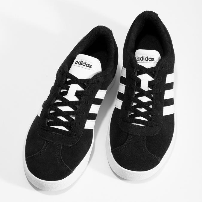 Czarne skórzane trampki dziecięce adidas, czarny, 403-6361 - 16