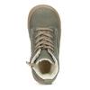 Skórzane zimowe obuwie dziecięce zprzeszyciami mini-b, khaki, 296-3600 - 17