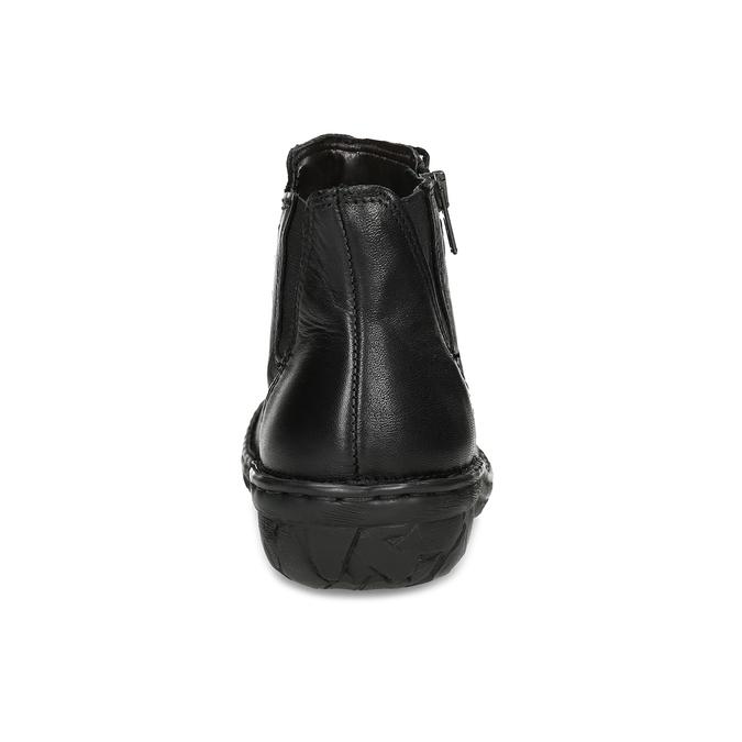 Zimowe skórzane botki damskie bata, czarny, 594-6708 - 15
