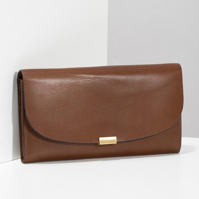 Brązowy skórzany portfel damski bata, brązowy, 944-3228 - 17