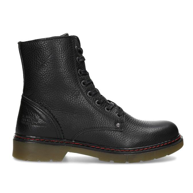 Czarne skórzane obuwie damskie typu chelsea bata, czarny, 596-6732 - 19