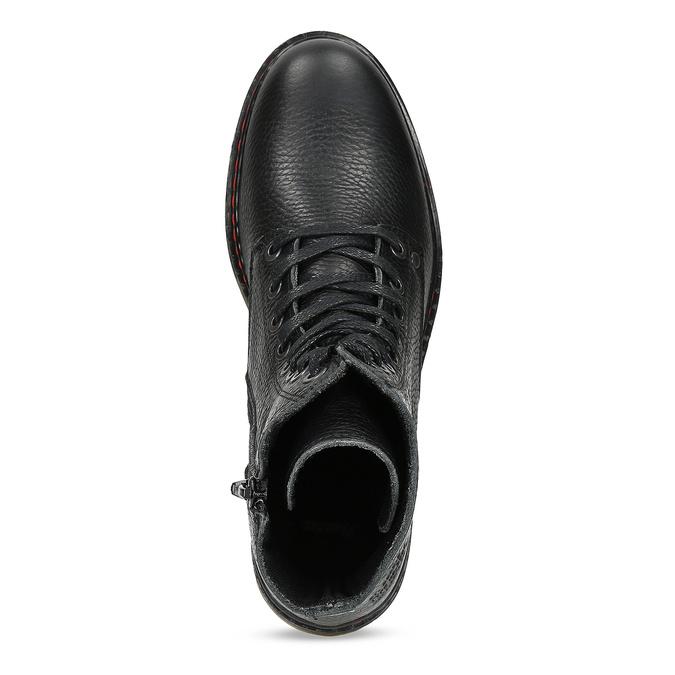 Czarne skórzane obuwie damskie typu chelsea bata, czarny, 596-6732 - 17