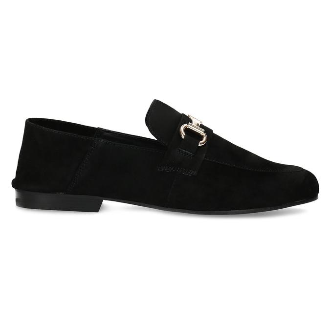 Czarne zamszowe loafersy damskie steve-madden, czarny, 513-6026 - 19