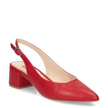 Czerwone czółenka bez pięty bata-red-label, czerwony, 621-5646 - 13