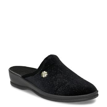Czarne kapcie damskie bata, czarny, 579-6631 - 13