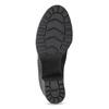 Skórzane sznurowane botki damskie bata, czarny, 796-6653 - 18