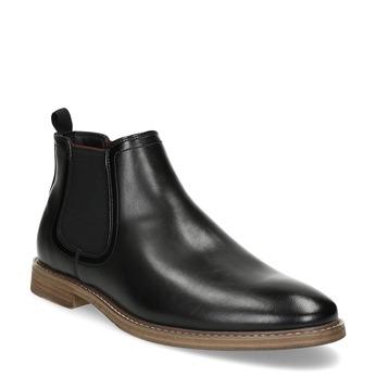 Czarne obuwie męskie typu chelsea bata-red-label, czarny, 821-6611 - 13