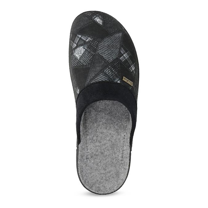 Czarne kapcie męskie bata, czarny, 879-6619 - 17
