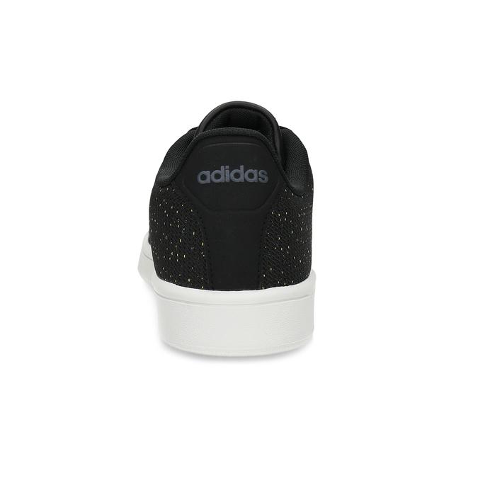 Czarne trampki męskie wdeseń adidas, czarny, 809-6104 - 15