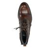 Brązowe błyszczące obuwie męskie za kostkę bata, brązowy, 896-3720 - 17
