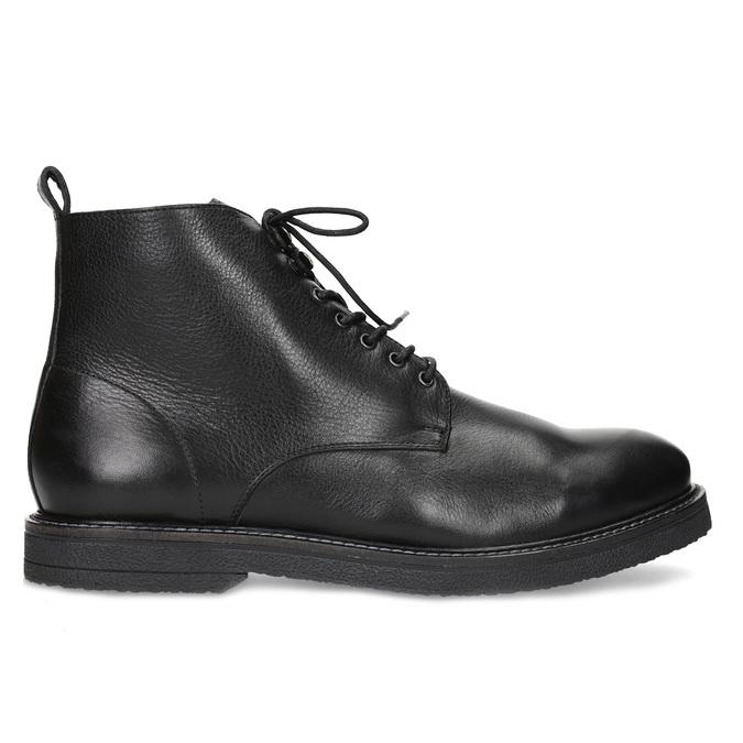Czarne skórzane obuwie męskie za kostkę bata, czarny, 894-6721 - 19
